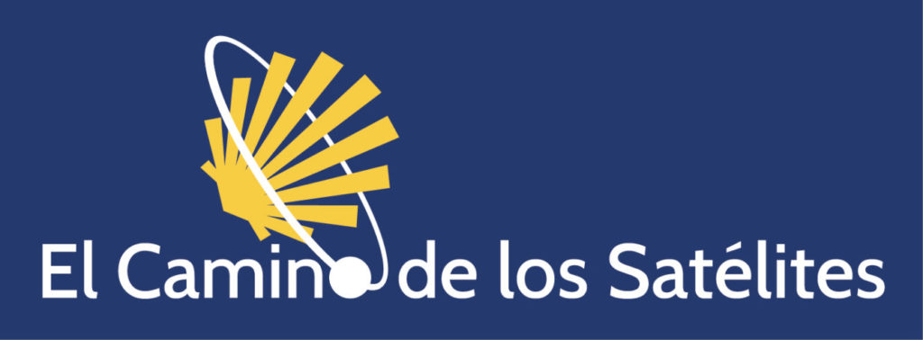 Logo en sentido horizontal del Camino de los Satélites