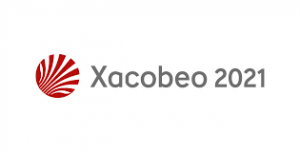 Logotipo del Xacobeo 2021 de la Xunta de Galicia que enlaza con la página del camino de Santiago